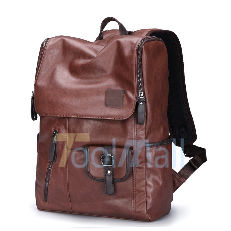 Men Women Vintage Leather Backpack Messenger Bag Satchel Laptop Travel Rucksack
