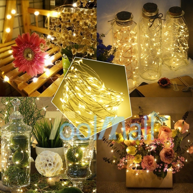30 LEDs Battery Powered String Lights Warm white Wedding Party Christmas BBC