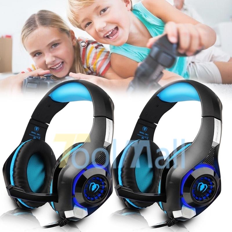 2x PS4 3 5mm Gaming Headset Headphone LED w/Mic Xbox One Mac