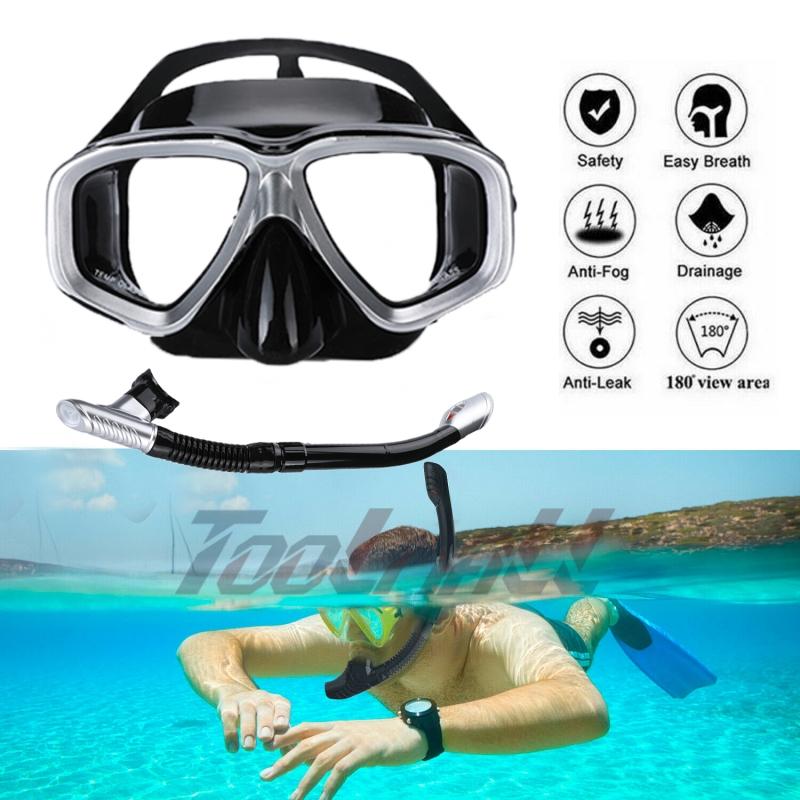 UGI Snorkeling Set Full Face Diving Snorkel Mask with Adjustable Diving Fins