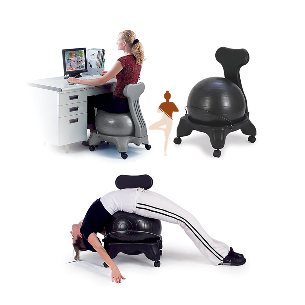 Balance Ball Chair Yoga Exercise Ility Home Office Posture Seat Jpg 1000x1000 For