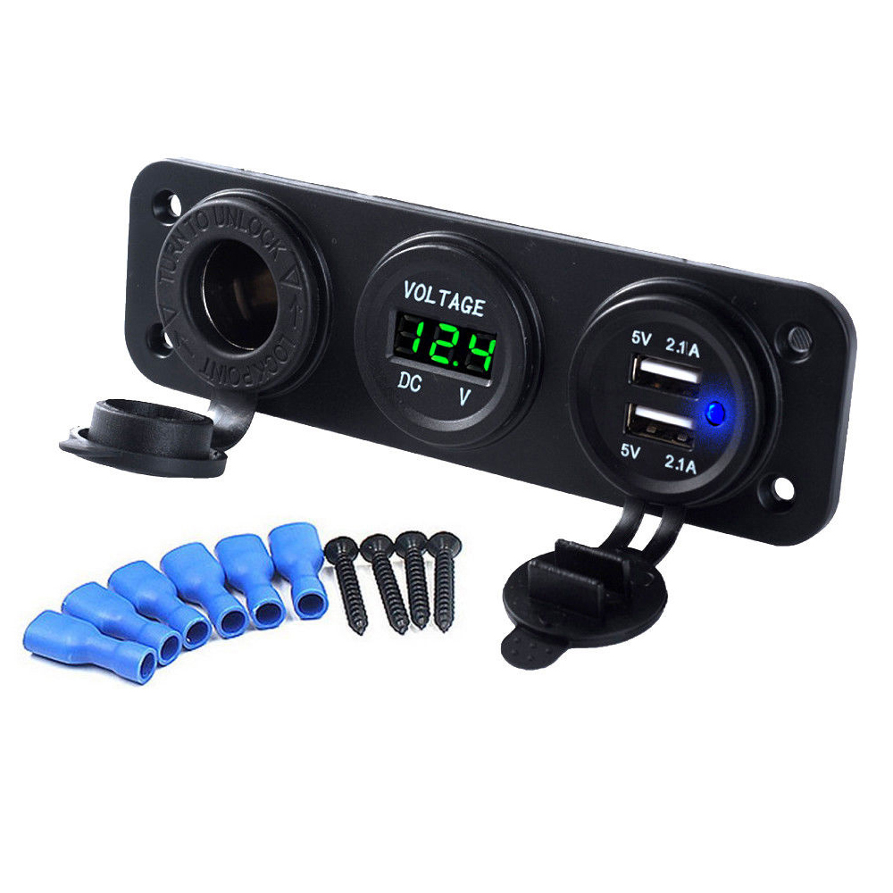 12v led voltmeter mottorrad zigarettenanz nder steckdose 2. Black Bedroom Furniture Sets. Home Design Ideas
