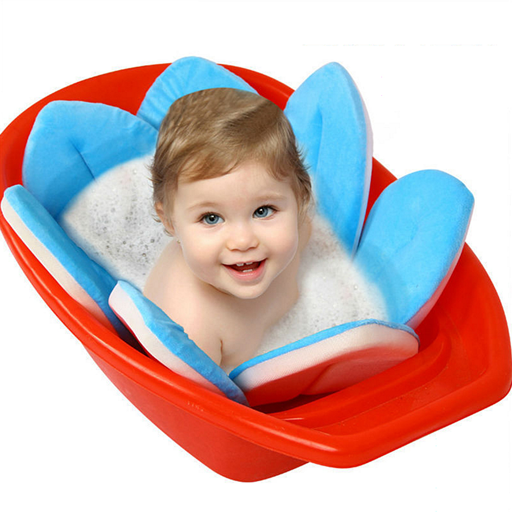 Cute Soft Blooming Flower Shaped Baby Sink Bath Cushion Baby Bath