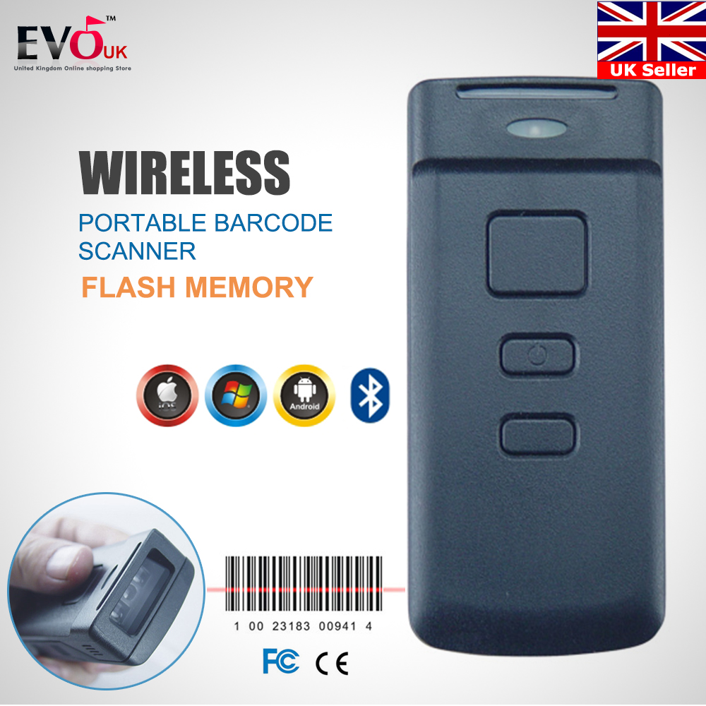 Bluetooth Wireless Barcode Portable Scanner Reader Gun for Android