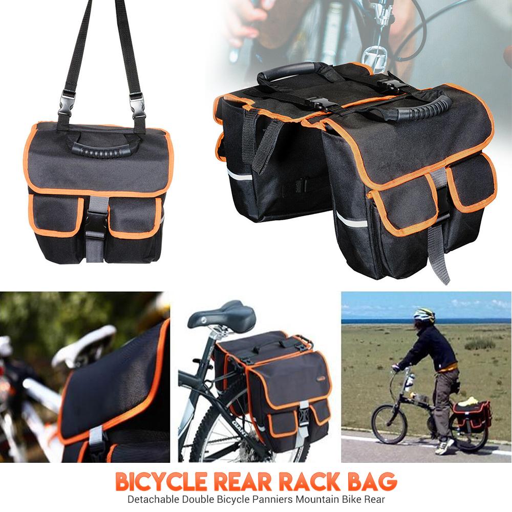 Double Vélo Noir Bagage Sac Arrière Vélo Rack Support Résistant à l/'eau NEUF