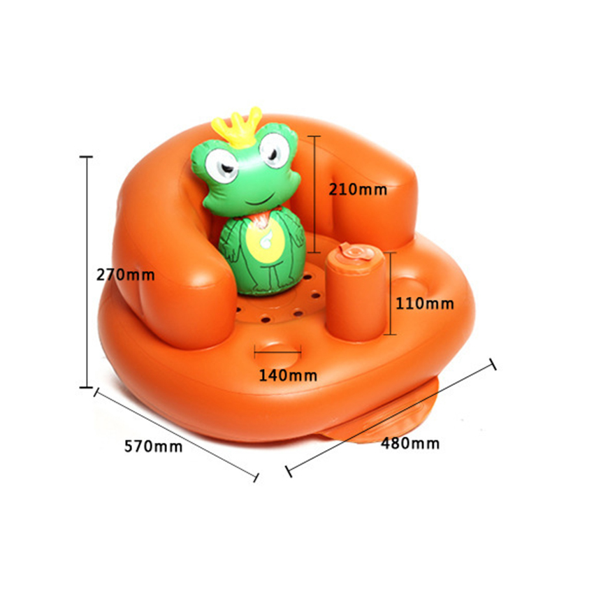 Inflatable Toddlers Sit Me Up Stool Training Seat Dining Bath Chair ...
