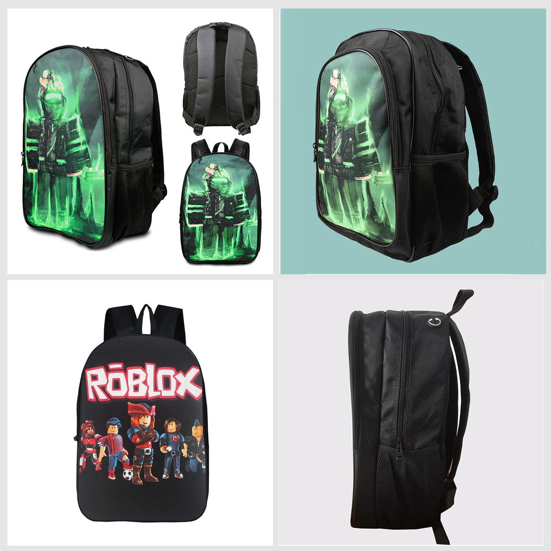 e96c13847bc3 Roblox Backpack Children Boys School Bag Student Laptop Kids Rucksack 16