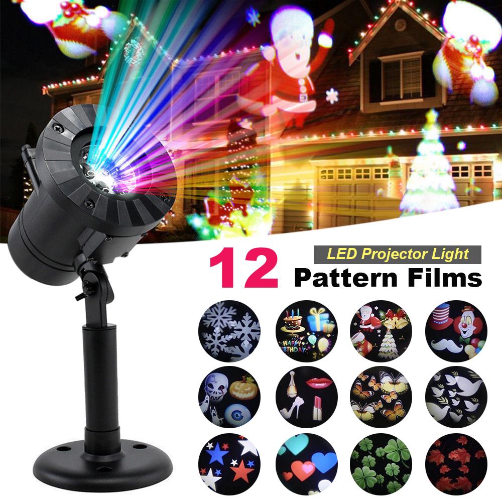 Weihnachten Laser Projektor LED-Licht Gartenhaus Party Außenleuchte ...