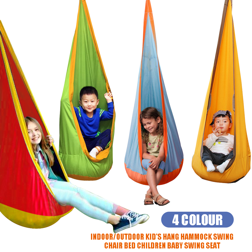 Indoor Outdoor Kids Children Pod Swing Chair Nest Nook Tent Hanging Seat  Hammock