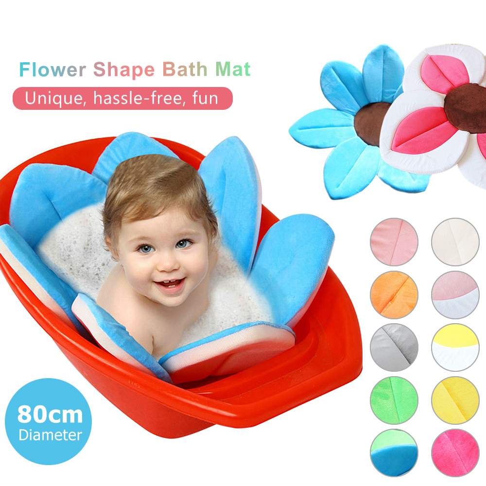 Cute Soft Blooming Flower Shaped Baby Sink Bath Cushion Baby Bath ...