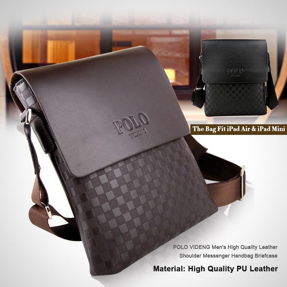 Details about POLO VIDENG Men s High Quality Leather Shoulder Messenger  Handbag Briefcase 46b776d21a