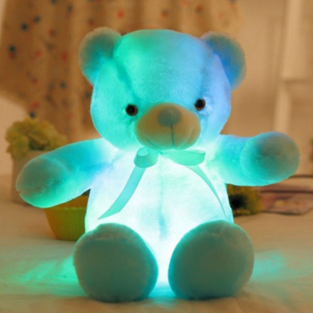 Huge cute led teddy bear plush luminous stuffed giant soft toy big we have 4 kinds color available white blue pink yellow when you make the order pls leave a note in the order information that which color you want thecheapjerseys Choice Image