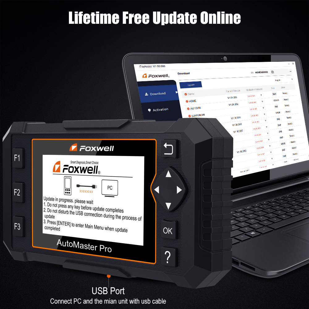 Details about Foxwell Auto OBD2 All System Diagnostic Code Scanner ABS SRS  EPB Oil Reset