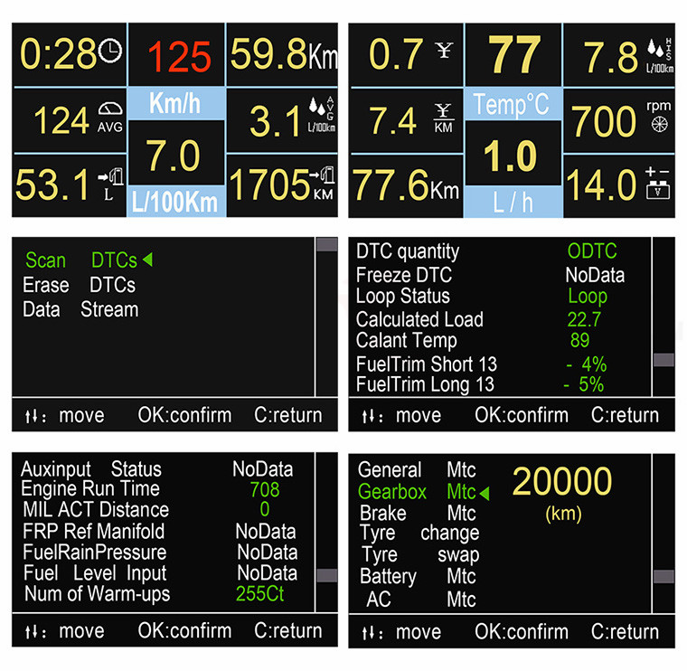 Details about Car Driving OnBoard Computer OBD2 Digital Meter Gauge Tool  A501 Auto Code Reader