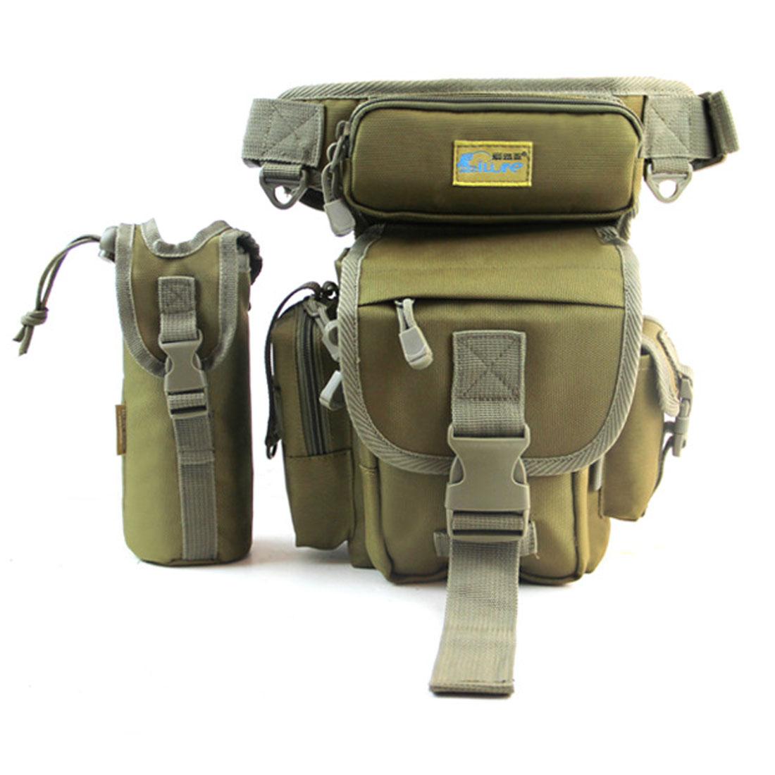 Men Drop Leg Bag Tactical Shoulder Pack Pouch Bottle Pocket