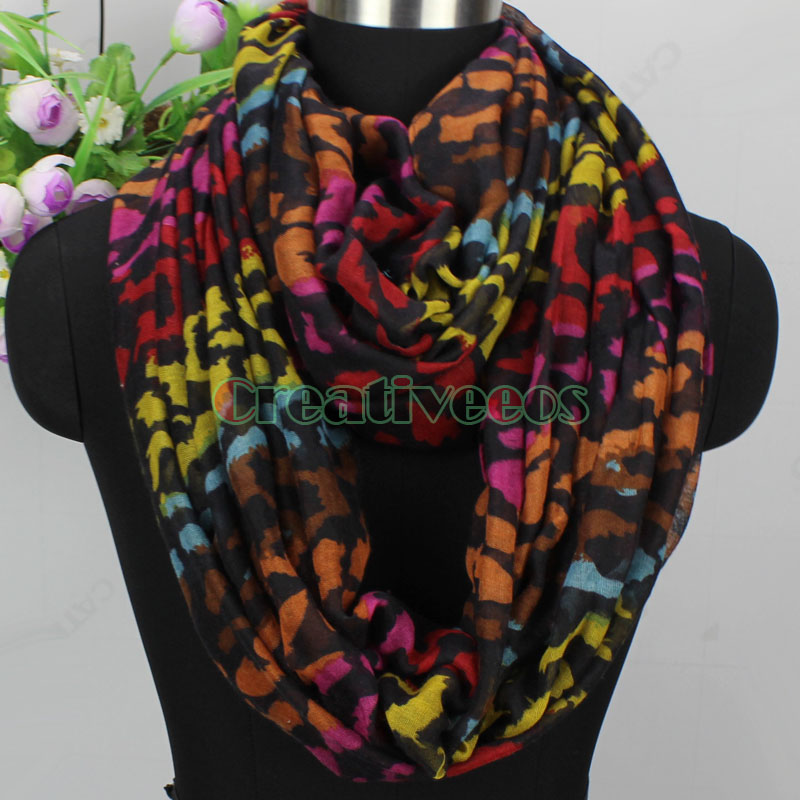 Details about Animal Leopard Print Long Scarf Infinity Scarf Snood Womens  Scarf Ladies Scarf 35f221c05