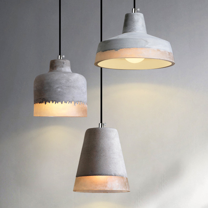 Details About Shabby Chic Grey Concrete Cone Shade 1 Lamp Resin Kitchen Ceiling Pendant Lights