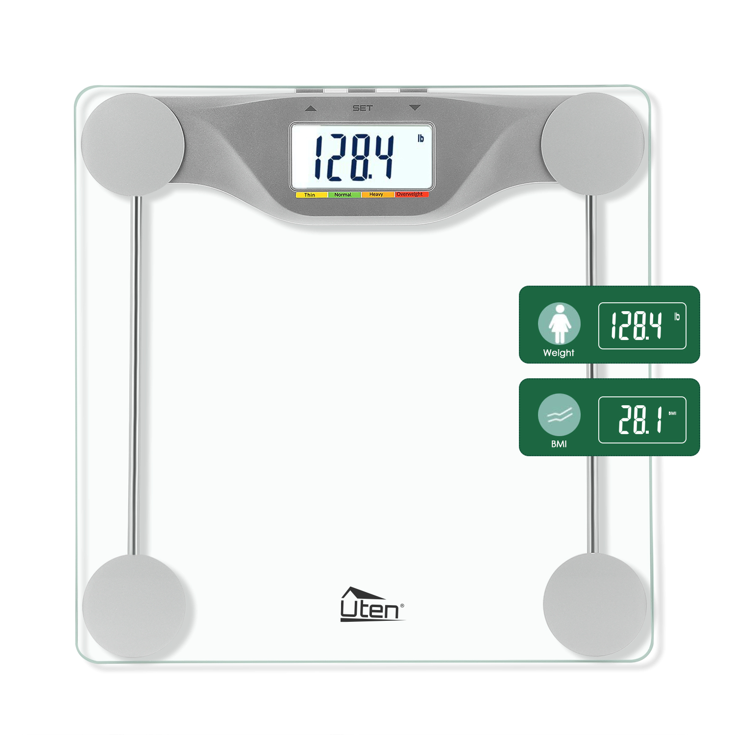 Details About Bathroom Scales Weight Scale Smart Body Fat Bones BMI Digital  Electronic Fitness