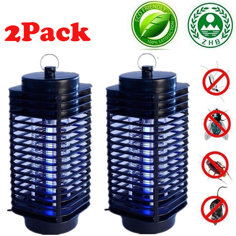 2X Electric Mosquito Fly Bug Insect Zapper Killer Trap Lamp 110V