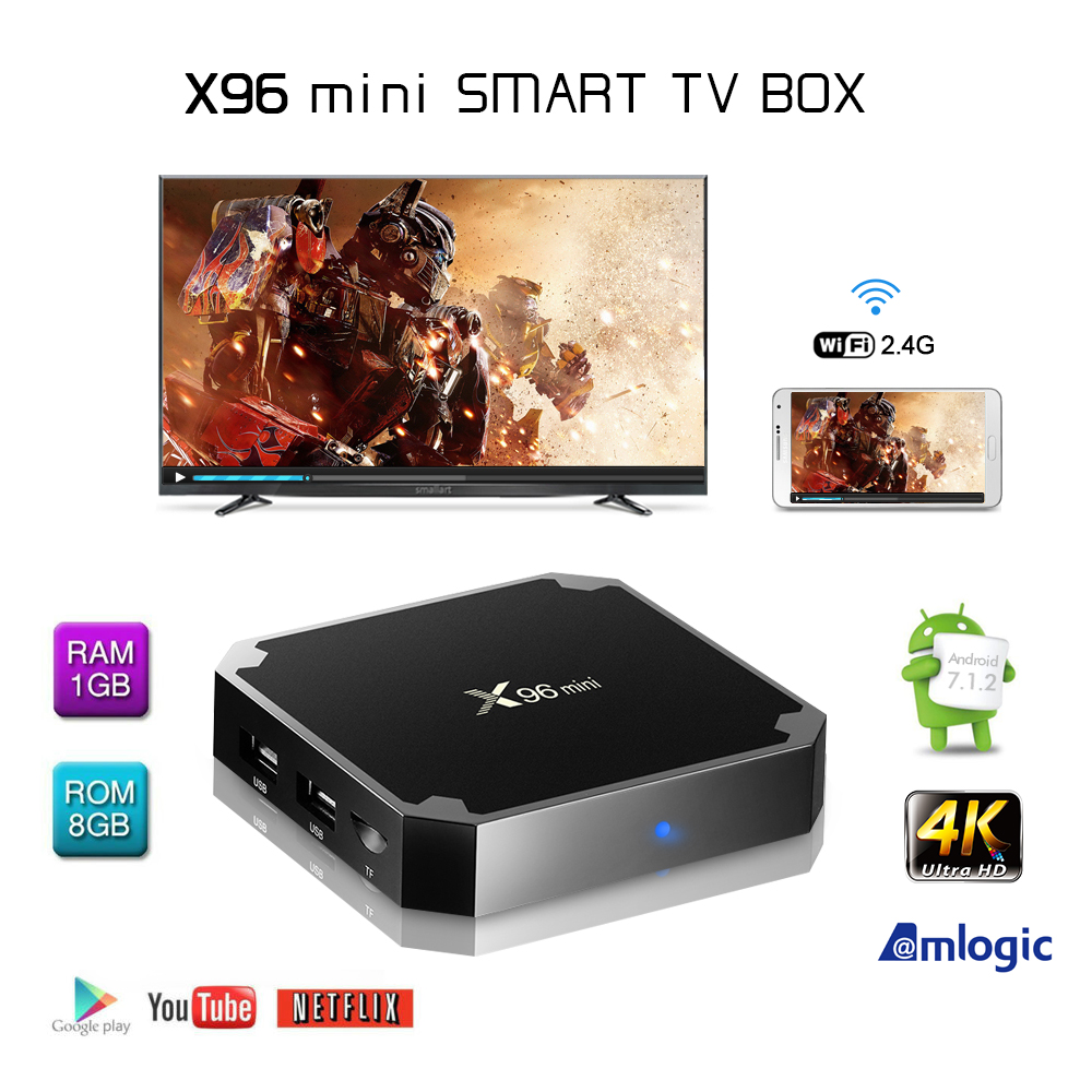 X96 Android 7 1 Mini Smart TV Box 4K HD Amlogic Wifi 1GB 8GB