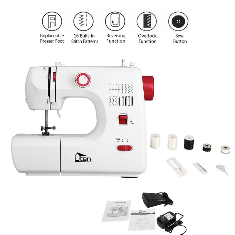 Overlock Electric Sewing Machine Small Double Thread 2 Speed 16 ...