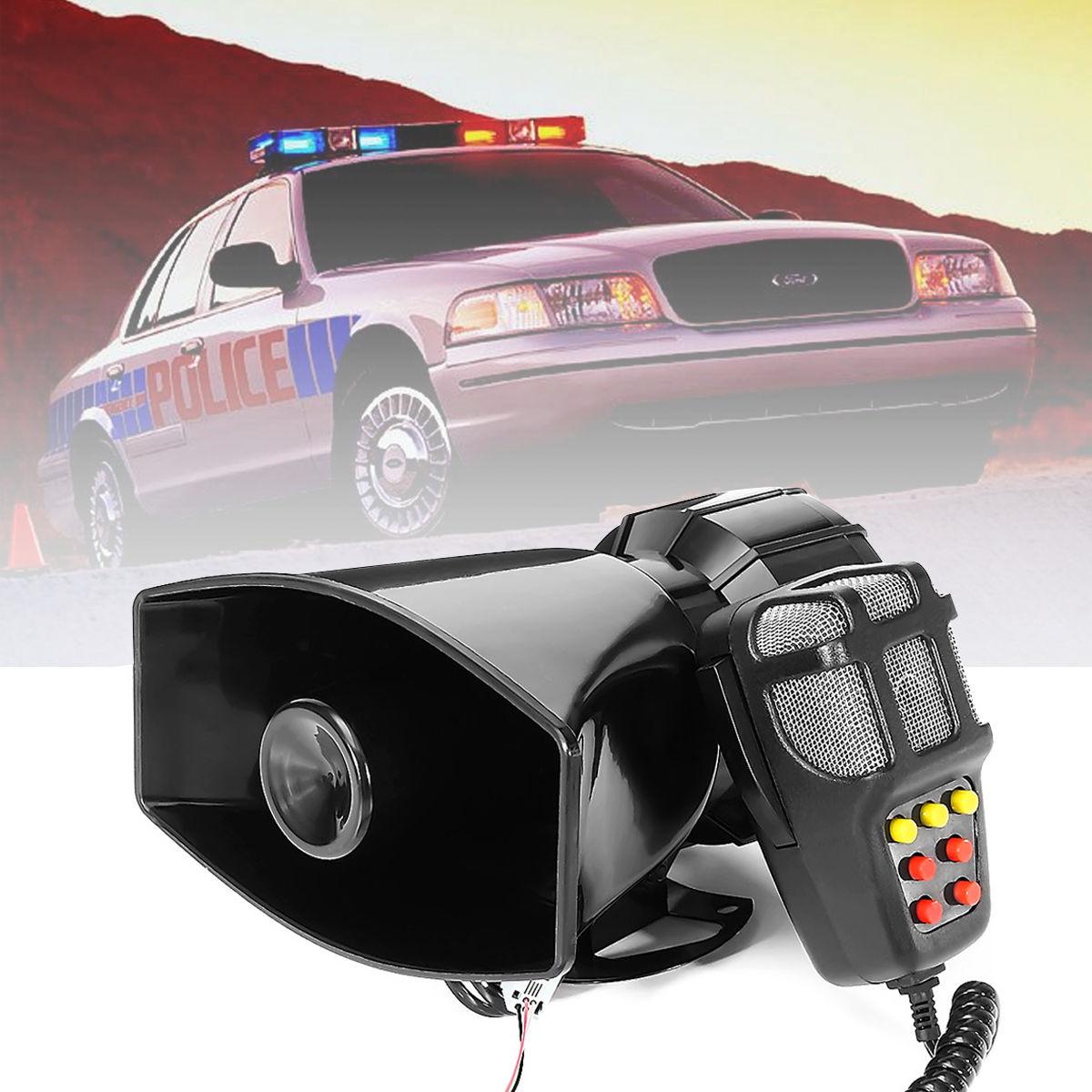 100W Police Fire Siren Air Horn PA Speaker Loud Car Warning Alarm 5 ...