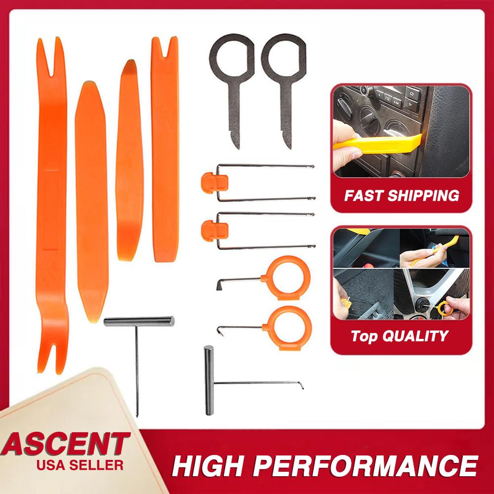 US Stock 4PCS Car Door Trim Removal Tools  Radio Dash Open Auto Clip Kit
