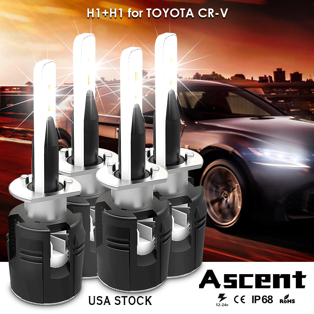 Car H1 Led Headlight Kits Power Bulbs High Low Beam For