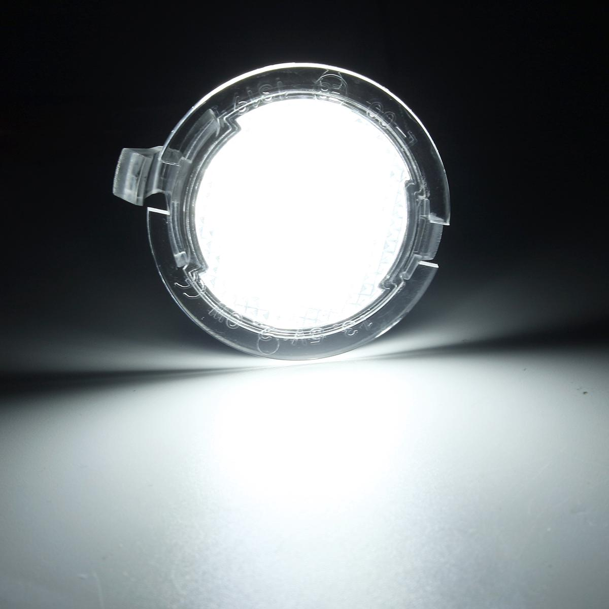 Power 6000k White Led Side Mirror Puddle Lights Fit 2015