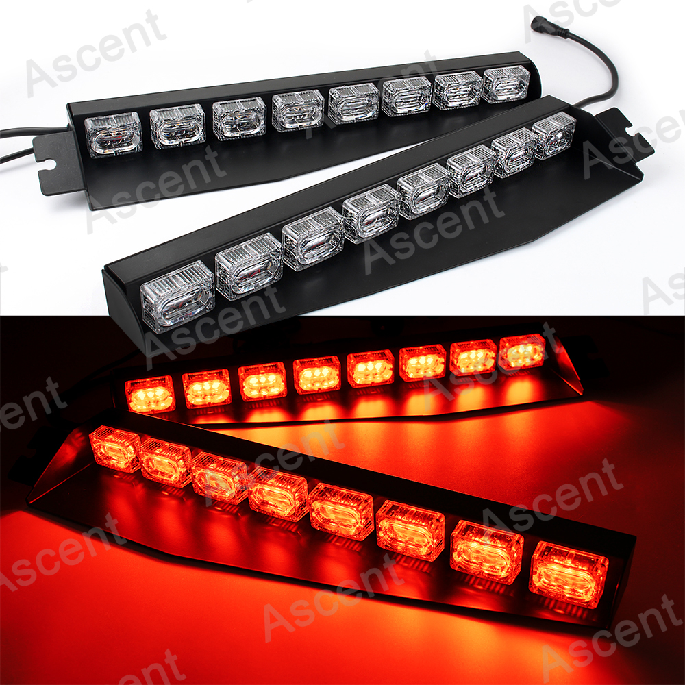 Bright red 48 led car emergency warning flash split mount dash bright red 48 led car emergency warning flash split mount dash strobe light bar aloadofball Images