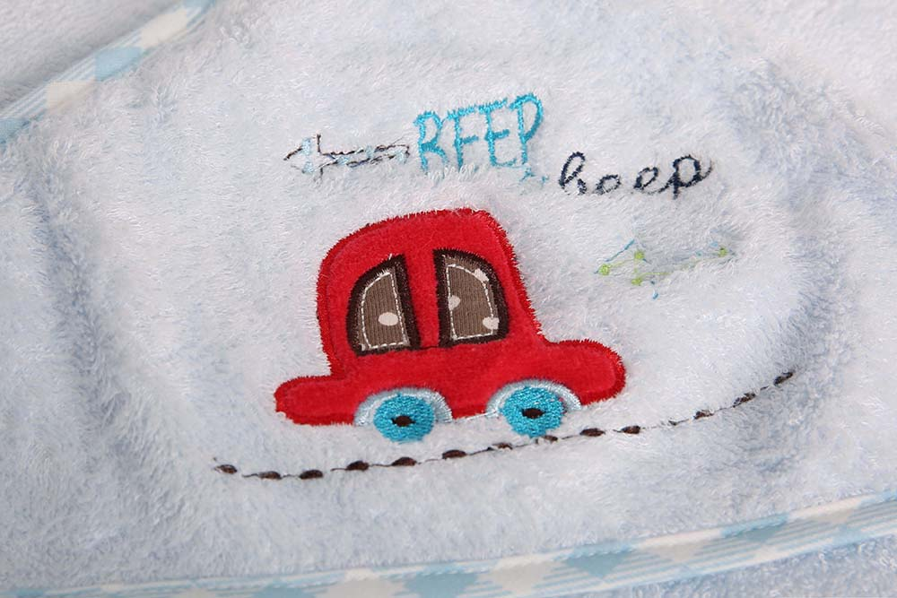 Baby-Hooded-Bath-Towel-Infant-Bathing-Blanket-100-Bamboo-Cotton-Blue-Pink-95-95 thumbnail 7