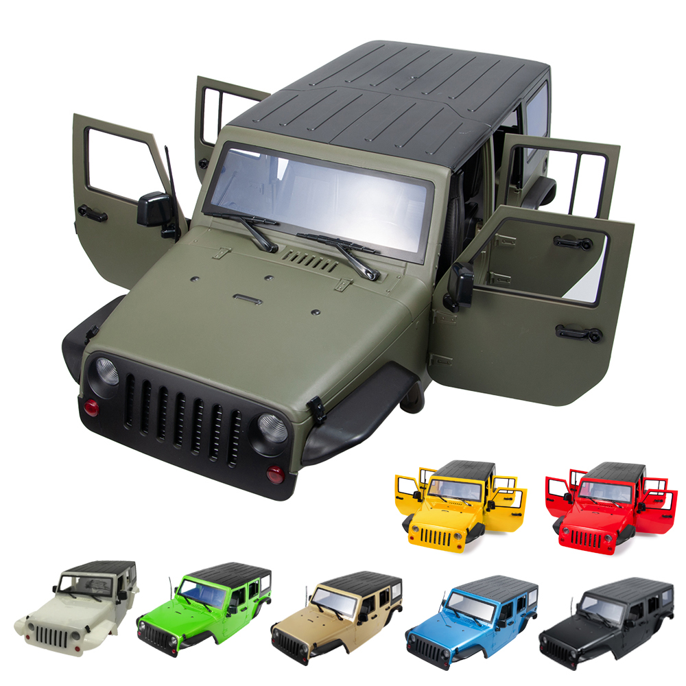 313MM Wheelbase Body Shell For 1/10 RC Car Jeep Wrangler