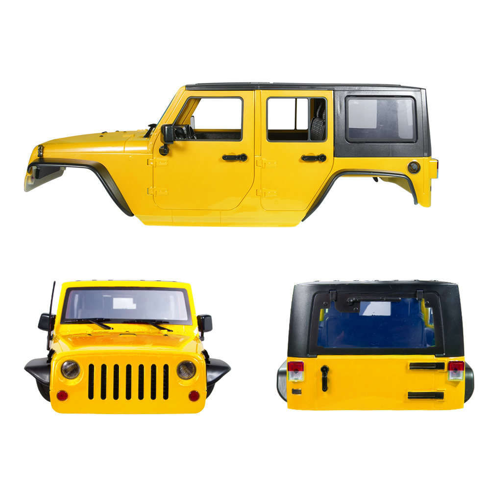313MM Car Body Shell Fr 1/10 RC Crawler Jeep Wrangler