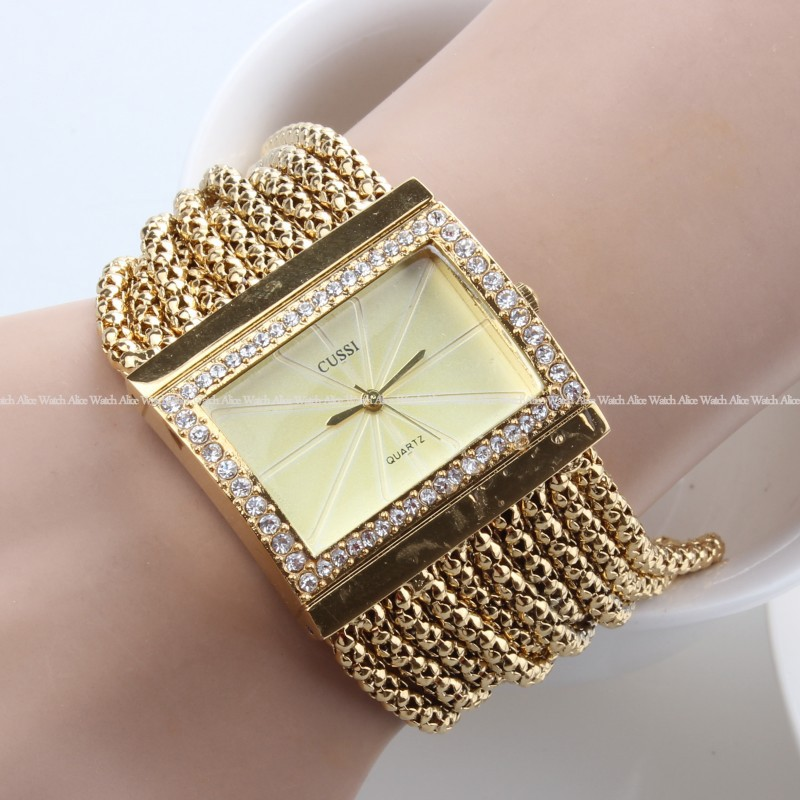 a5ead67bc Luxury Quartz Women's Wrist Watch Lady Girl Simple Gold Diamond Bracelet  Watches
