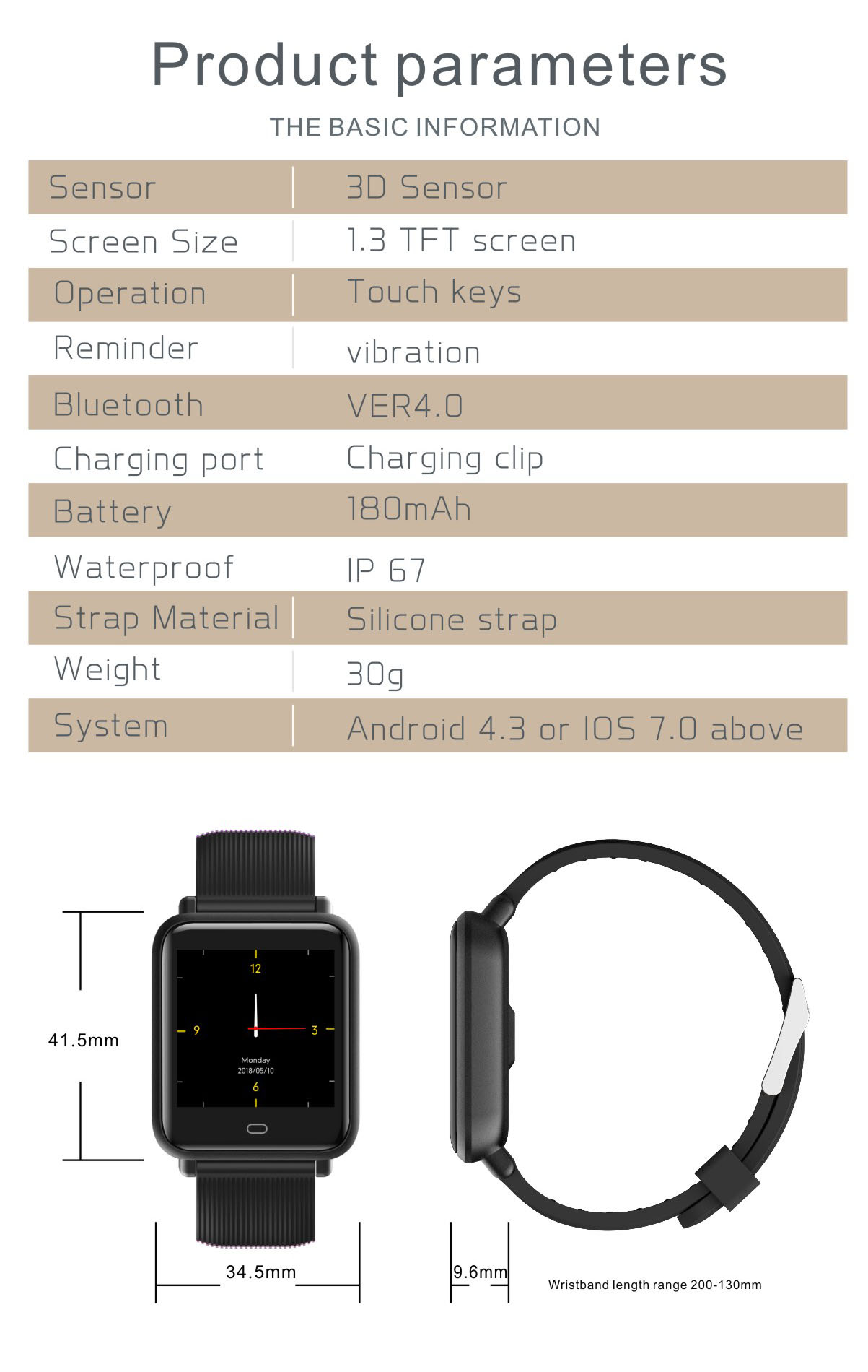 Smart Watch Men Women Heart Rate Monitor Sports For Android IOS Q9
