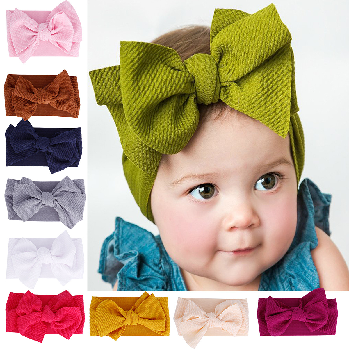 Baby Kid Girl Flower Hair Headband Toddler Lace Bow Band Accessories Headwear