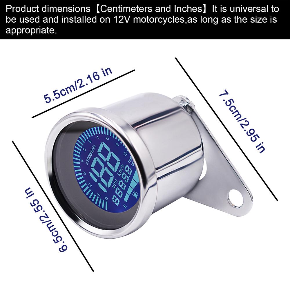 10000rpm Motorcycle Universal Lcd Digital Speedometer