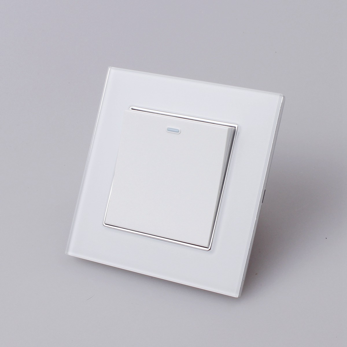 Uk Ac 90 250v 1 2 3 Gang Way Crystal Glass Panel Home Wall Light Switch Rocker