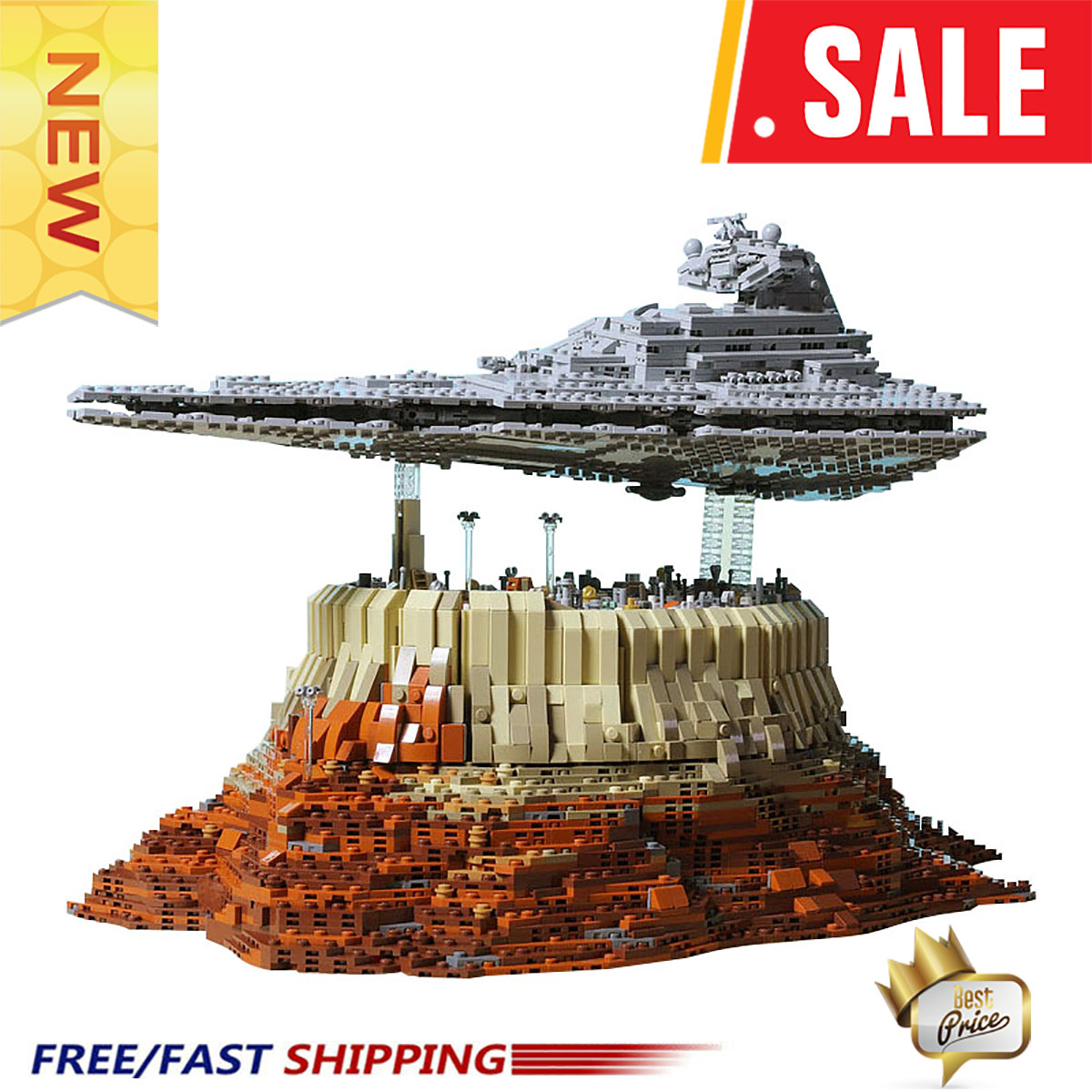 New-Ship-Wars-MOC-18916-The-Empire-Over-Jedha-City-By-Onecase-Star-Cruise-Blocks