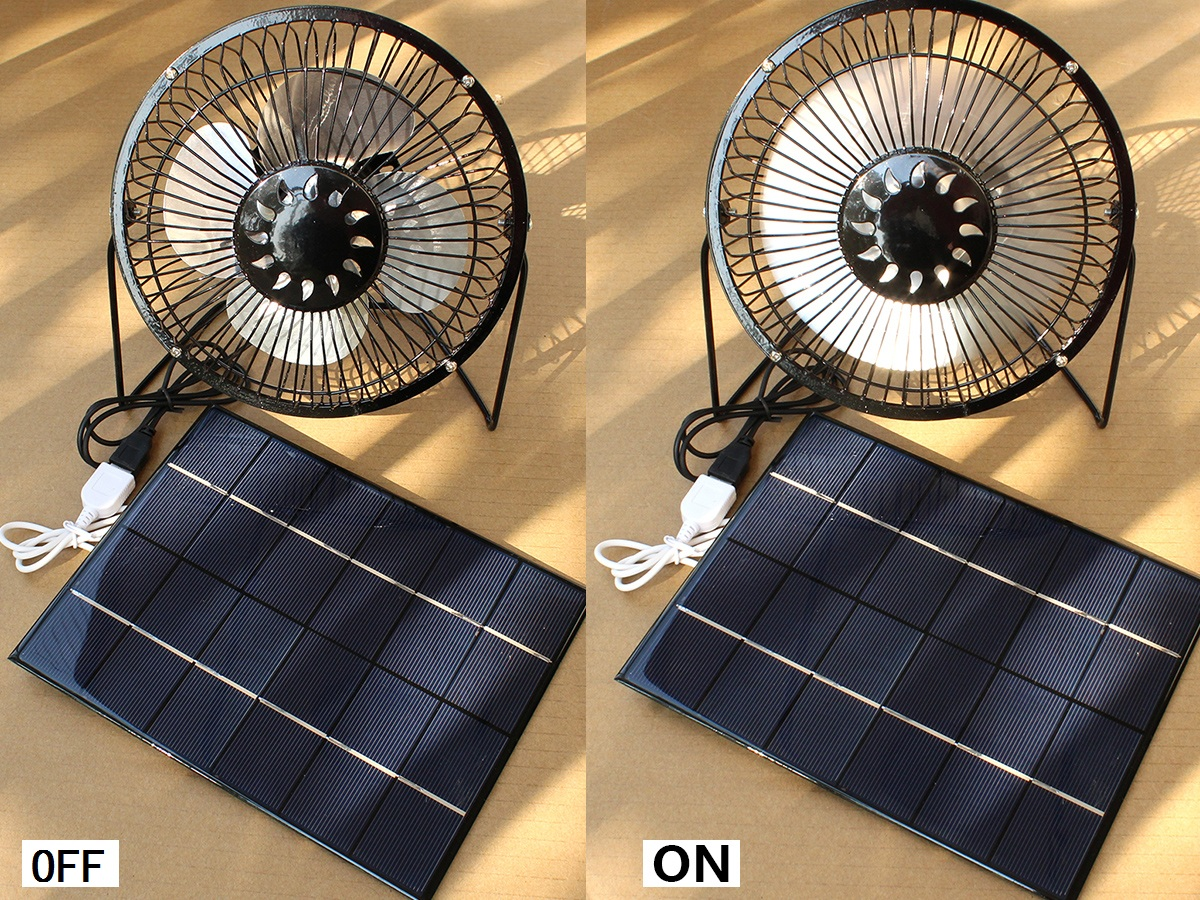 Solar Power Fan >> Details About Solar Panel Powered 6 Fan Mni Ventilator Camping Rv Greenhouse Dog House Air