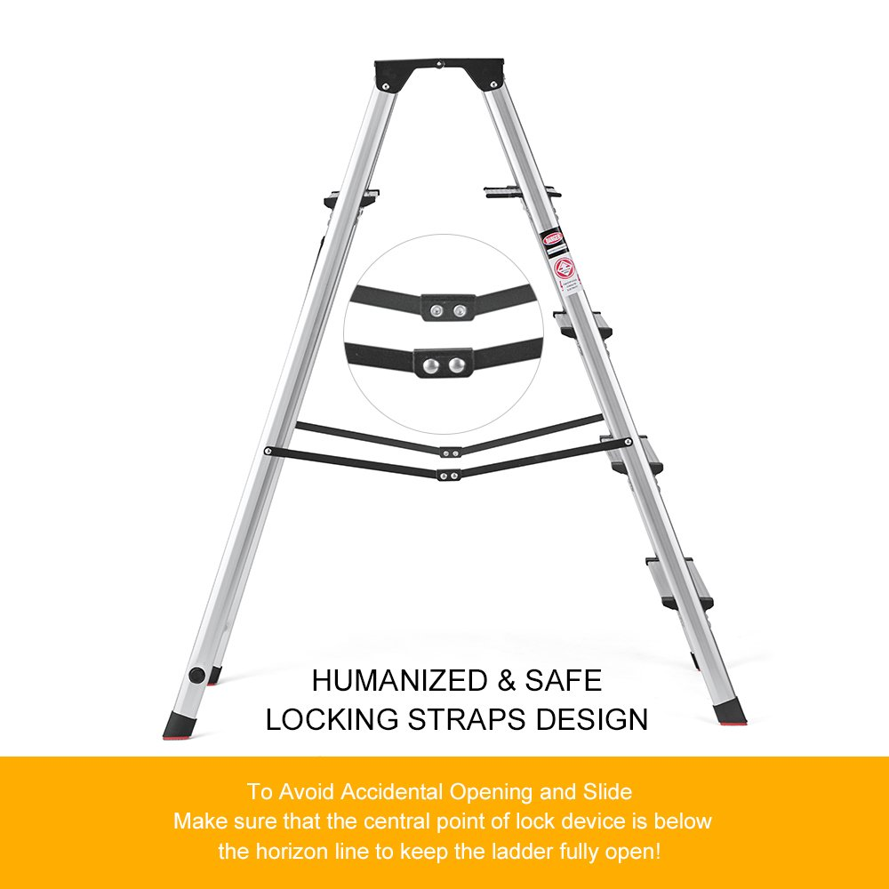 Phenomenal Details About House Day Lightweight 5 Step Stool Heavy Duty Aluminum Step Ladder Gmtry Best Dining Table And Chair Ideas Images Gmtryco