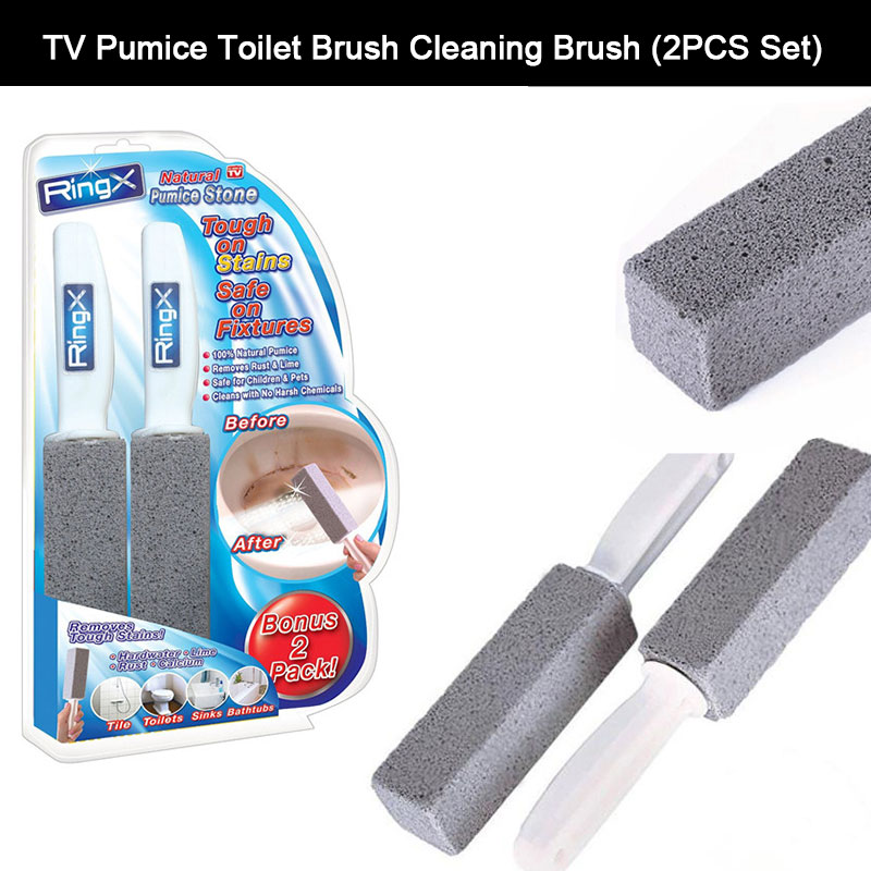 2pcs Water Toilet Bowl Natural Pumice Stone Cleaner Brush Wand Cleaning Tool