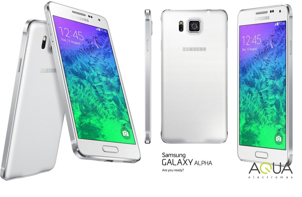 "White 4.7"" Samsung Galaxy Alpha SM-G850F 32GB Android 4G ..."