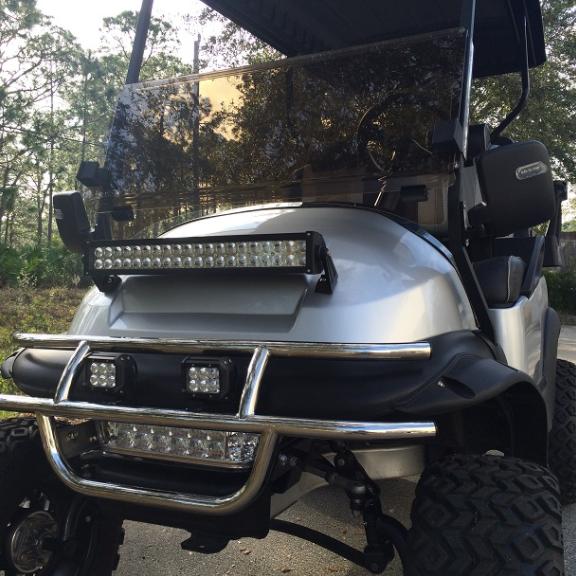 Details About Ezgo Txt Express Golf Cart Front Bumper 20 22 Led Light Bar Combo W Rocker Wire