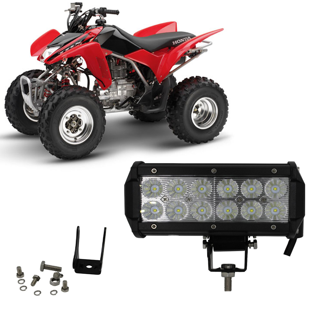 For Honda Trx250x Trx250ex Trx400ex Trx300ex Trx400x 1p 7in Led Flood Light Bar