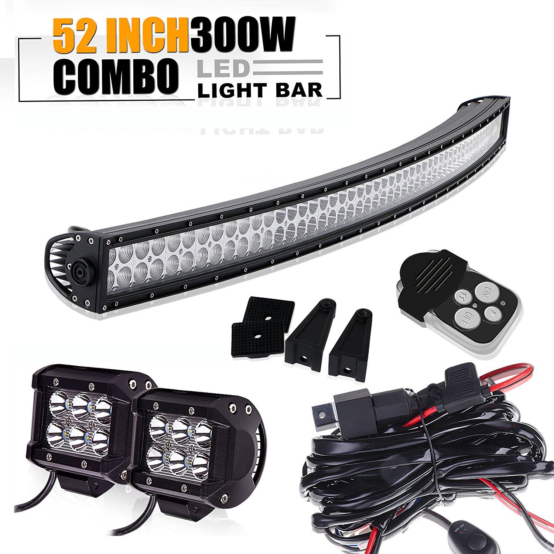 300W 52 zoll gebogen LED Arbeitsscheinwerfer Bar +18W Arbeitsleuchte ...