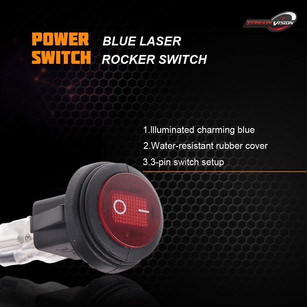Led Light Bar Wiring Harness Fuse Relay Switch Offroad Atv Utv Rzr Polaris Xp1k