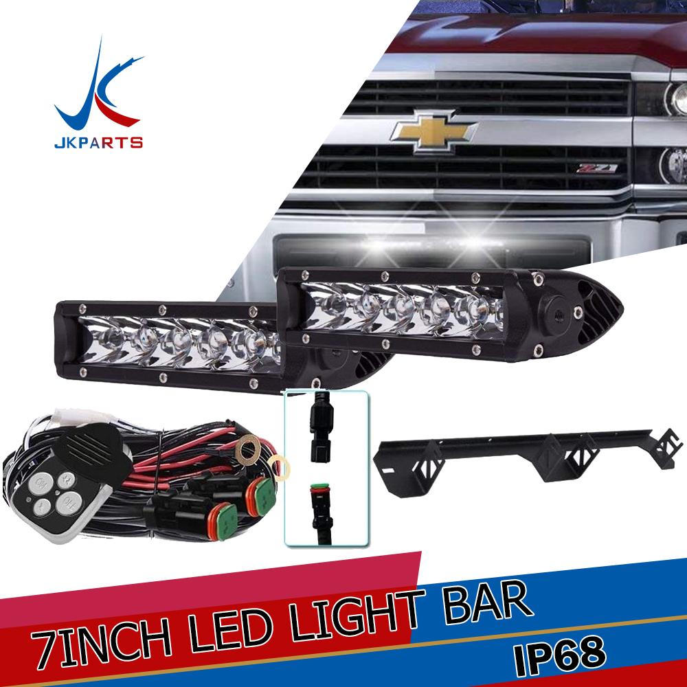"50/"" Curved Led Light Bar Brackets For 99-06 GMC Sierra//Chevy Silverado 00-06 Yuk"