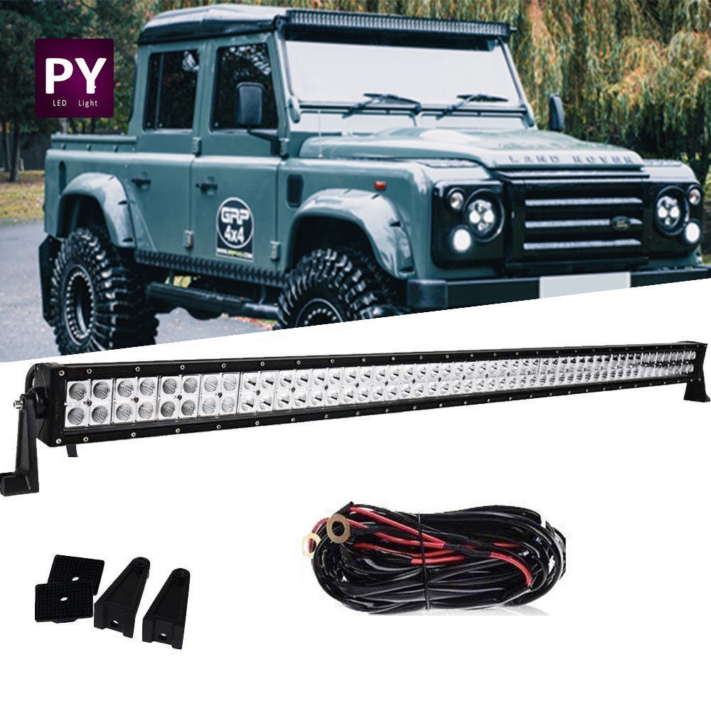 "50"" 52"" Inch Roof led light bar + 2x Pods + Wiring UTV Land Rover Defender  SUV"