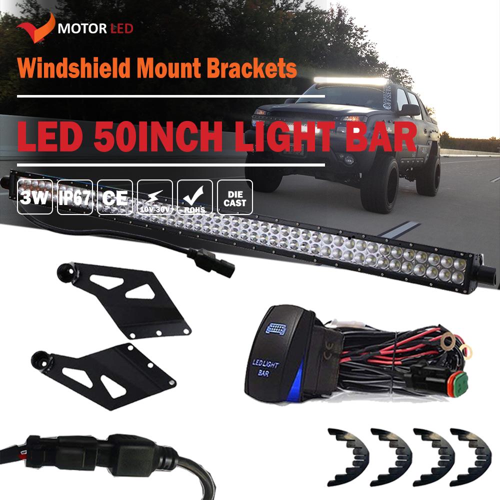 "Fit Dodge Ram Mount Bracket+ 50"" 288W LED Light Bar+1 lead Wiring Harness  Kits"